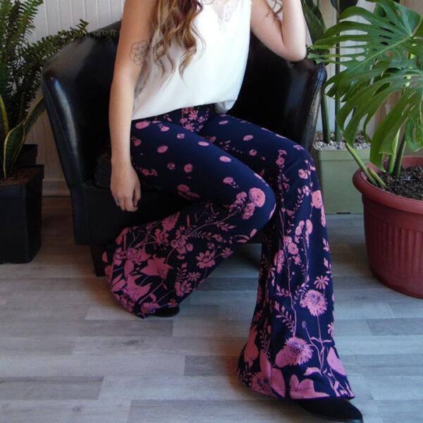 pataelefante flores rosa
