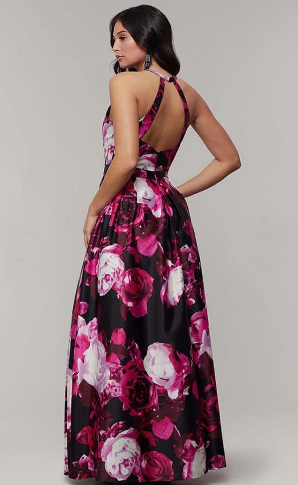 Maxi vestido floral espalda