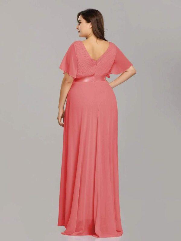 Vestido Roma rosa espalda